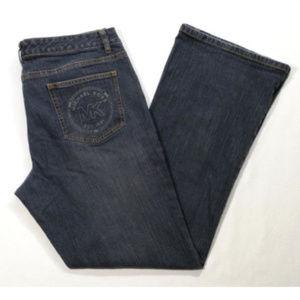 MICHAEL KORS Women Boot Cut Jeans Mid Rise 1693E2